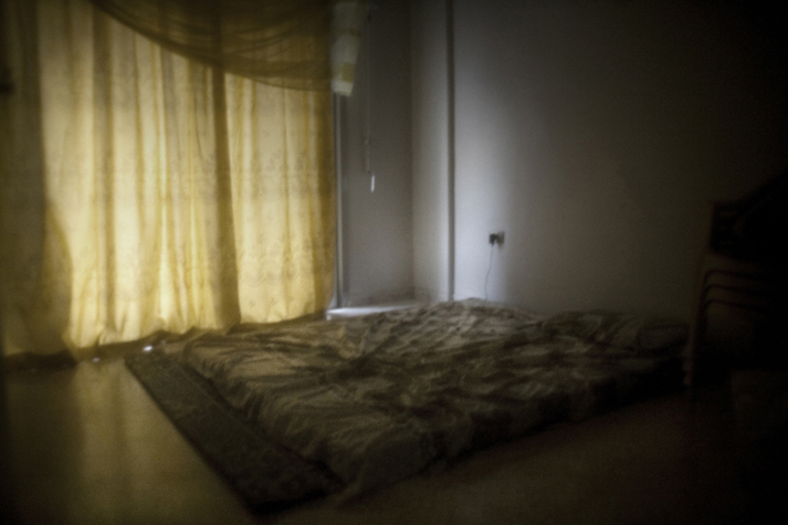Room in the house of an Iraqi prostitute in the Saina Zienab area.